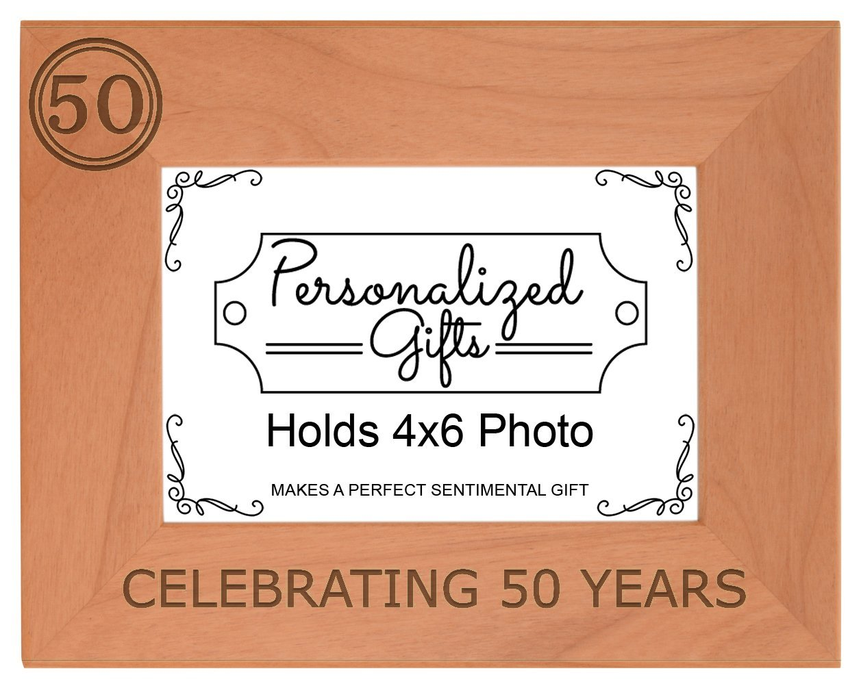 Buy 50th Birthday Gift Celebrating 50 Years Natural Wood Engraved ...