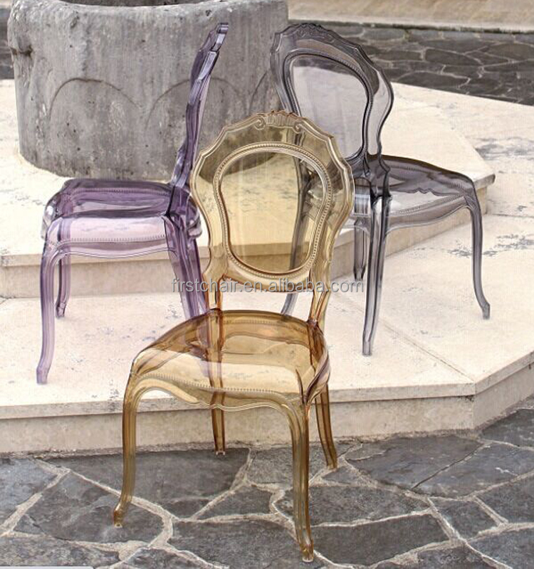 Wedding Event PC Belle Epoque Chair, Bella Plastic Chair, Transparent  Polycarbonate Italian Chair
