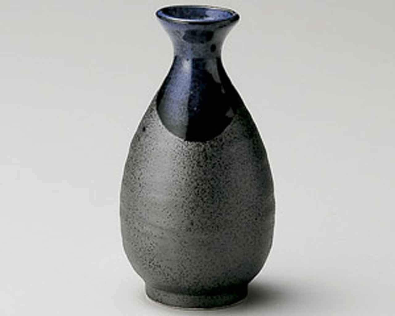Blue Blow 3.1inch Set of 5 Sake carafes Black porcelain Made in Japan