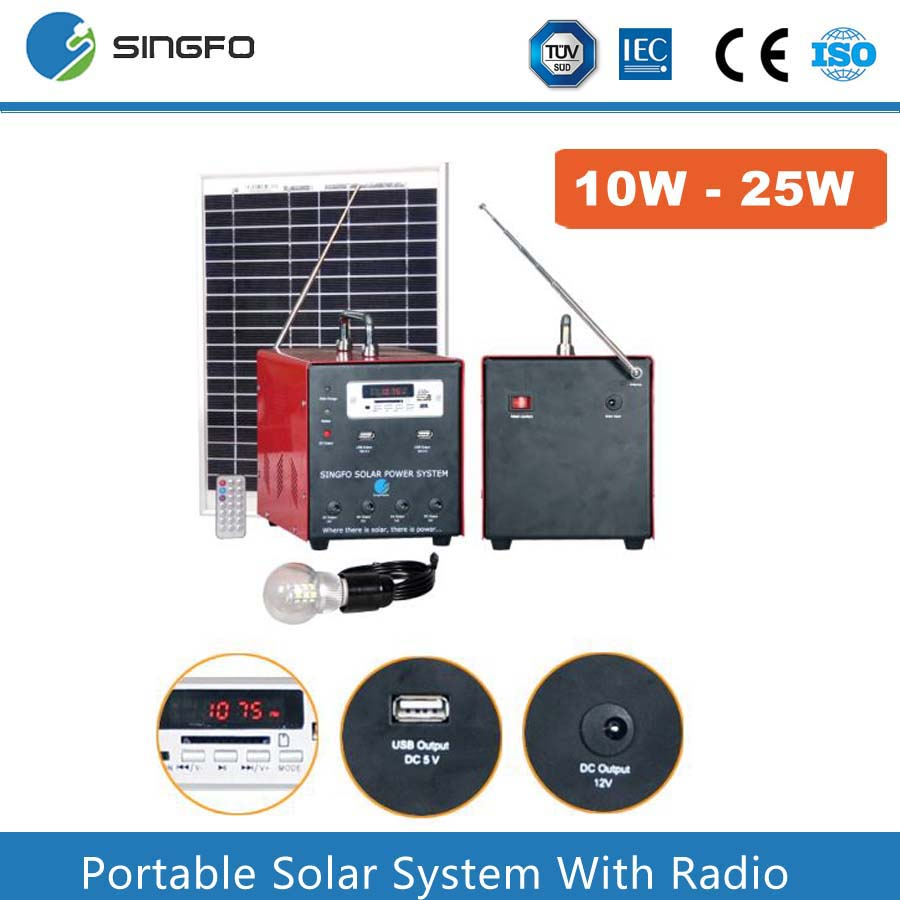 China OEM 15W 20W 25W home solar systems power