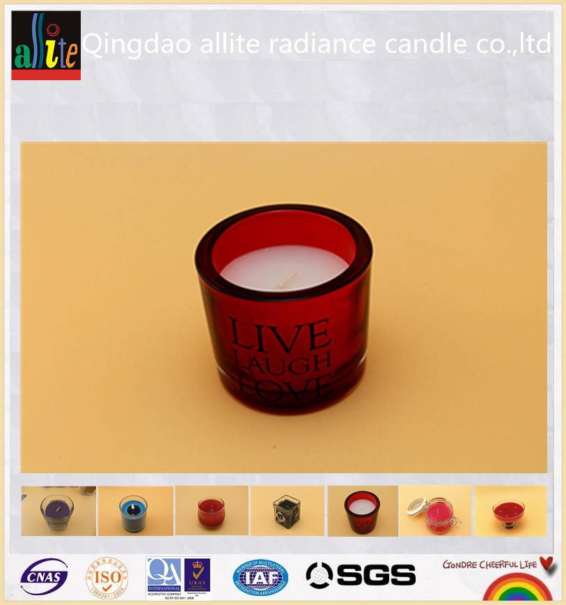 christmas scented frosted glass candle