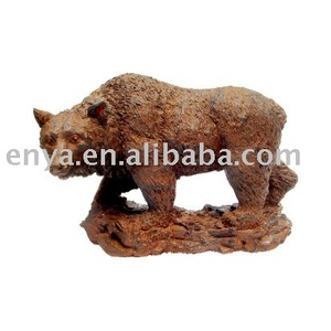 Bear Statue, Cast Iron Animal Figurine, Garden Ornament