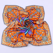 SF1728015 Fashion High quality colorful silk oversize printed kerchief square scarf