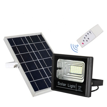 Compeive Price 10w Ip67 Remote Control Led Solar Flood Light Street View Jingdian Product Details From Zhongshan