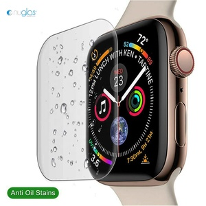Nuglas 9h tempered glass screen protector for Apple Watch 40mm 44mm anti shock screen protector film