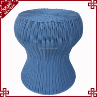 S&D new style portable round rattan garden sets/ outdoor chair/ plastic garden stool