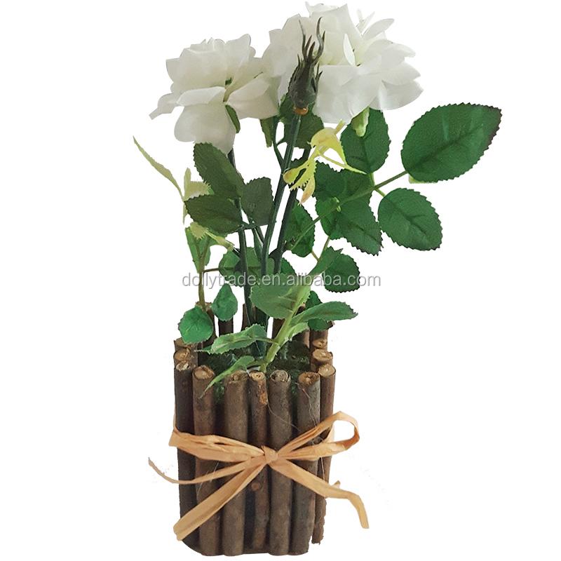 Hoa Lụa Hoa Hồng Bonsai Với Bằng Gỗ Nồi Buy Nhan Tạo Tăng Cay Cảnh Lụa Hoa Cay Cảnh Mini Bonsai Chậu Product On Alibaba Com