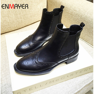 Italian new style fashion top quality cow leather burnt-out print women dropship boots