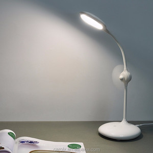 Wholesale price 2 in 1 Useful USB LED Table/desk Lamp with Fan