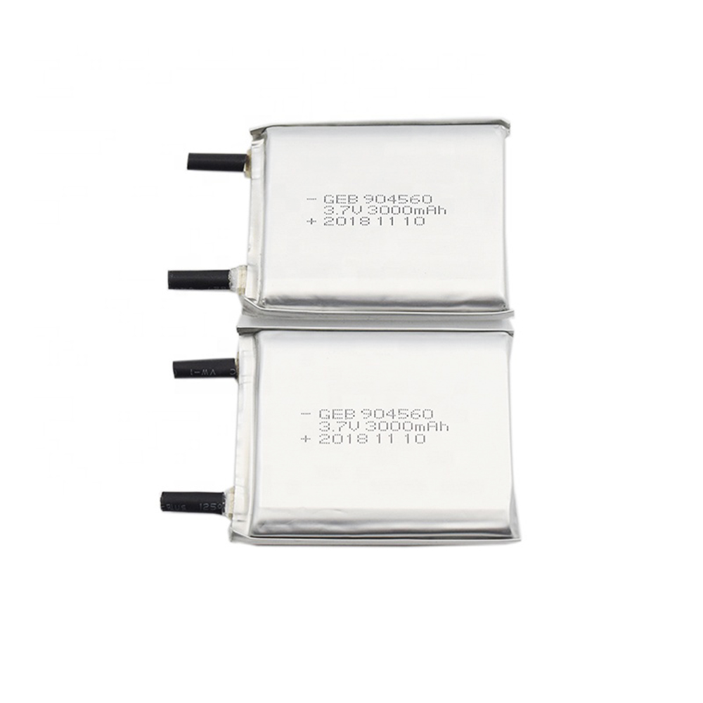 GEB 4555107 3.7V 3000mAh rechargeable lithium ion battery