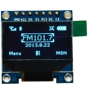 Factory price white blue display 128*64 resolution0.96inch oled module