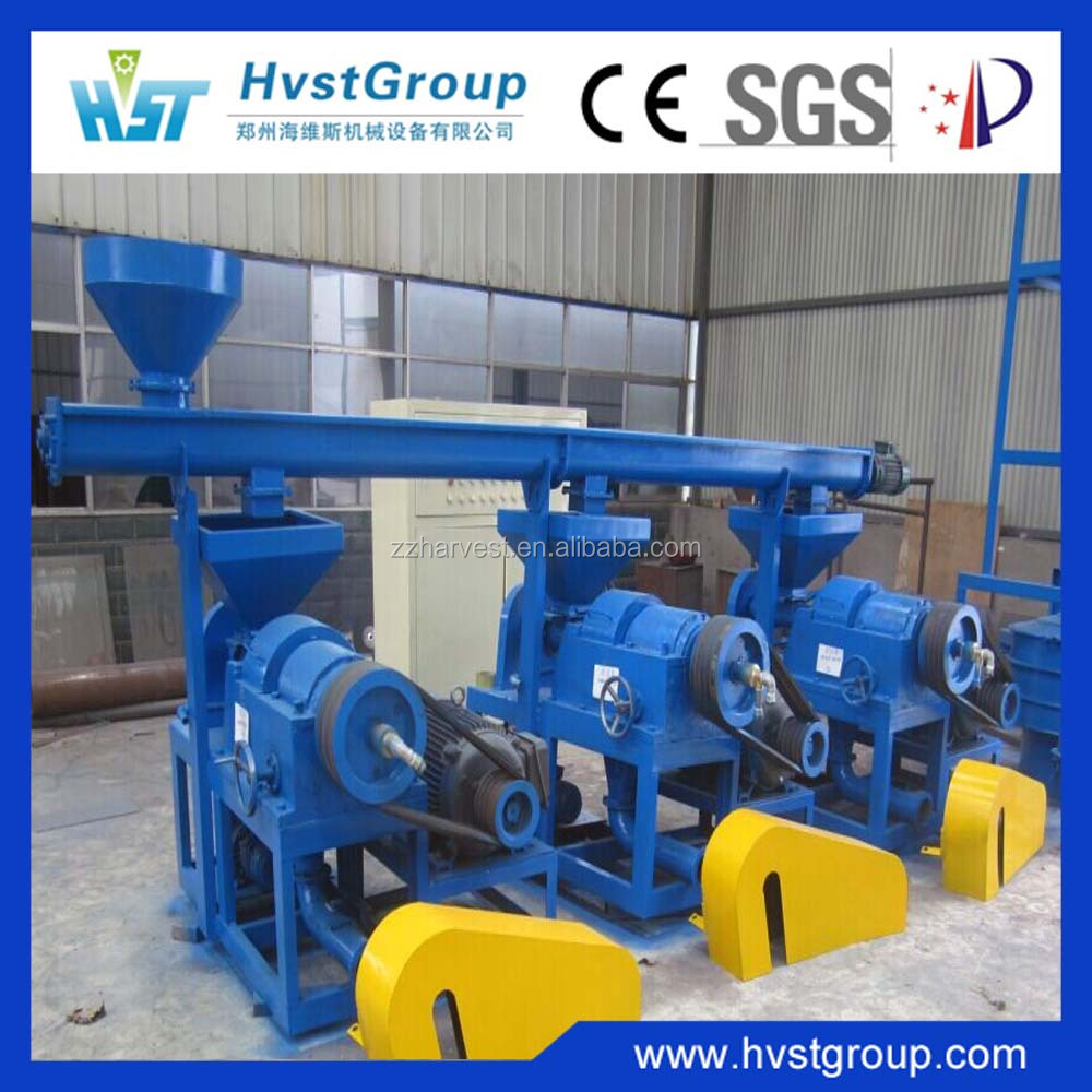 Rubber pulverizing machine/rubber recycling machine / rubber powder production line