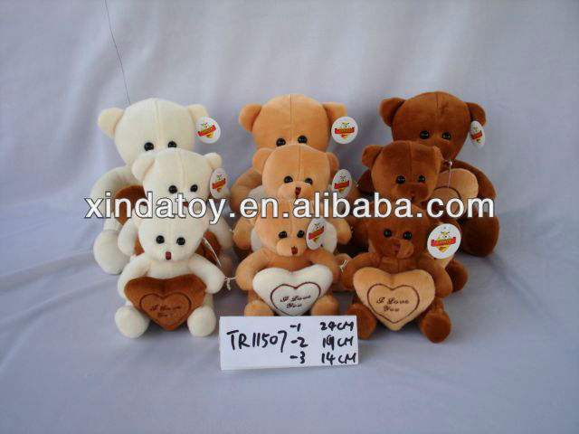 small lover teddy bear plush toy