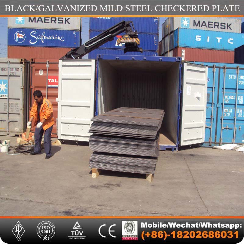 astm a36 ms mild steel chequered plate price per kg