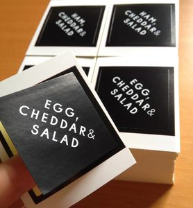 Custom Food Usage PVC Waterproof Stickers Die Cut Label