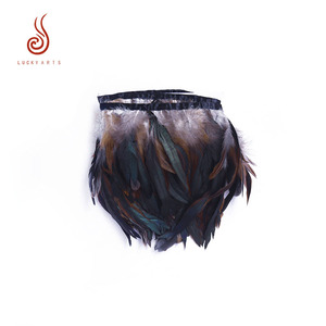 High quality natural cock rooster feather strung for dream catcher decoration