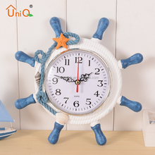 European Creative wooden wall clock alarm clock