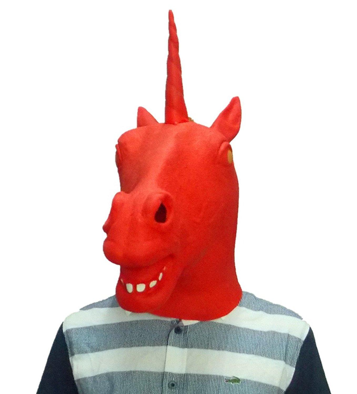 94936417f8f88 Buy Gmasking Creepy Black Evil Unicorn Mask Costume+Gmask Helmet ...
