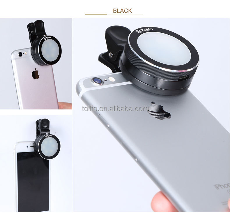 HF-0601 cellphone LED selfie ring light rechargeable via USB