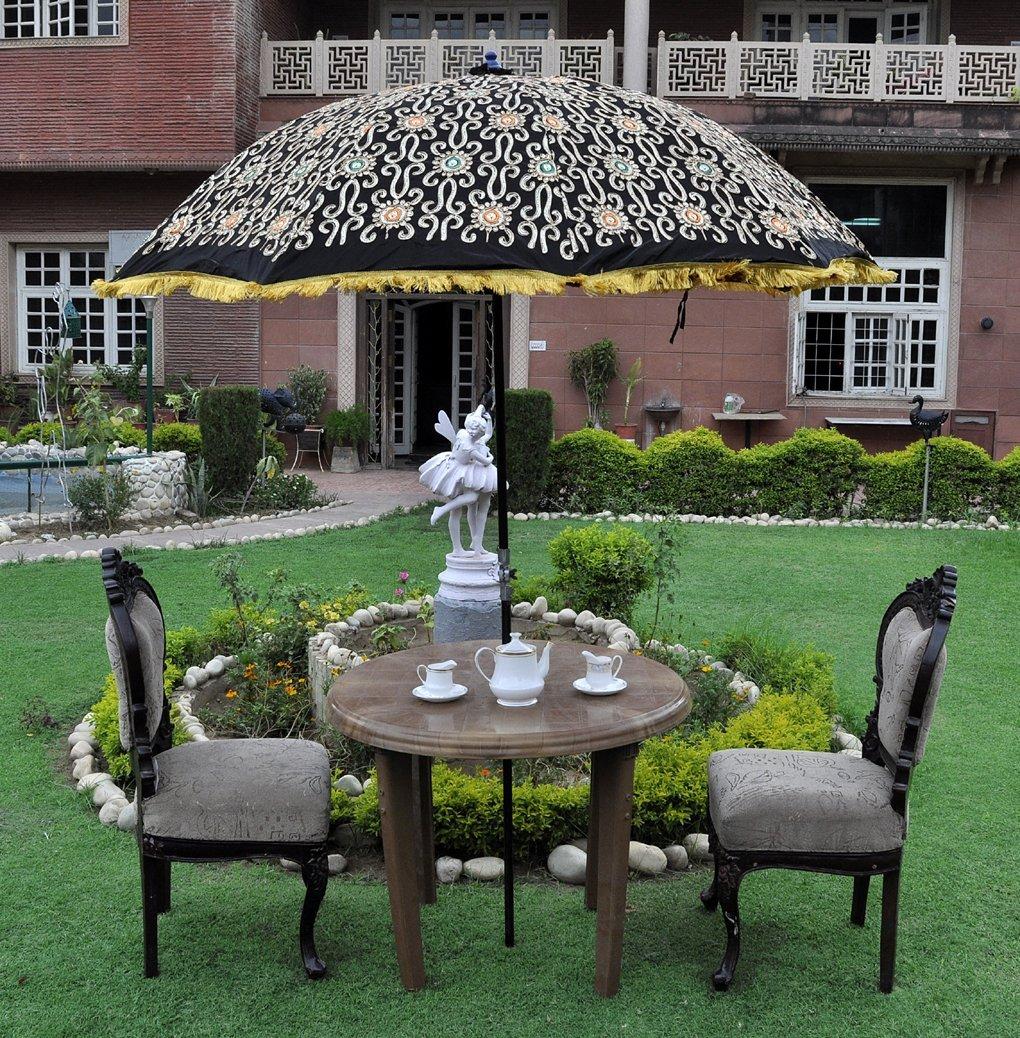 Buy Embroidery Work Design Cotton Rajasthani Silk Umbrella Patio 52 ...