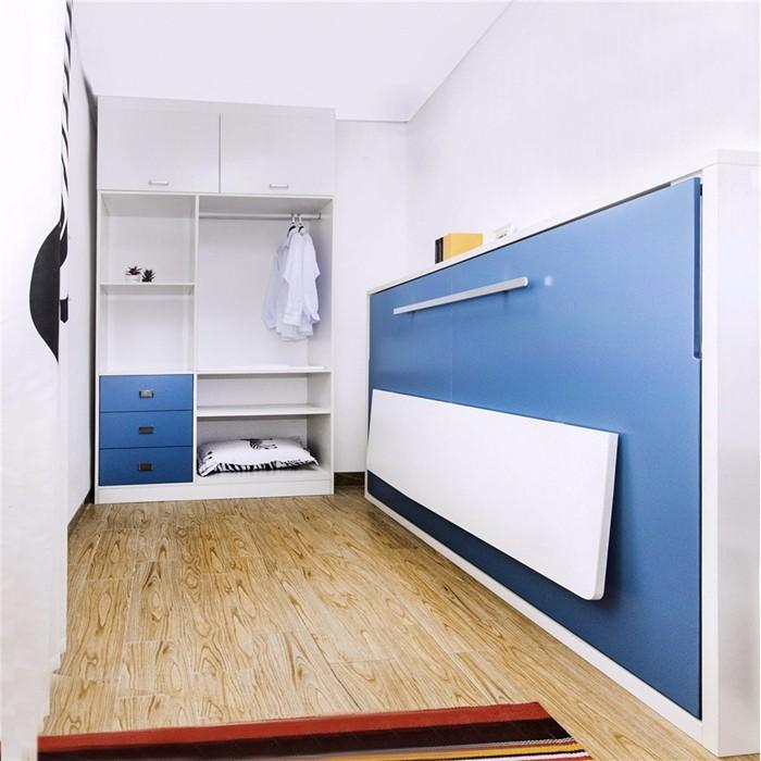 Murphy Bed Name Origin: Horizontal Melamine Borad Side Bed Wall Folding Single Bed