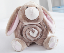 soft animal shape flannel blanket pillow for children