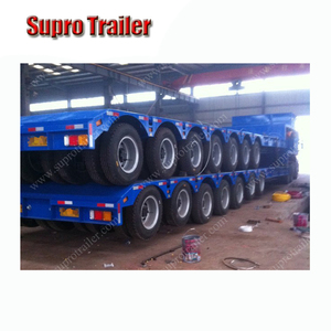 Supro Good Quality Low Bed Trailer with Low Bed Semi Trailer for Sale