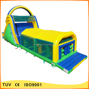 commercial 60ft adults and kids assault courses inflatable obstacle course for sale