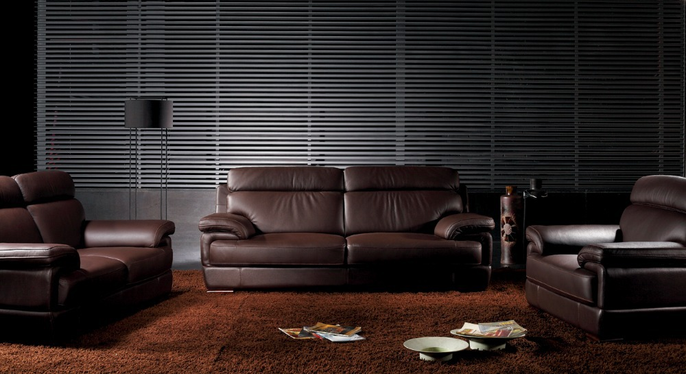 Made In Italy Leather Luxury Contemporary Furniture Set: Modern European Design Small Home Top Grain Luxury Italian