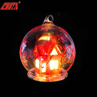 Led lighted hand blown glass xmas christmas ball ornaments bulk