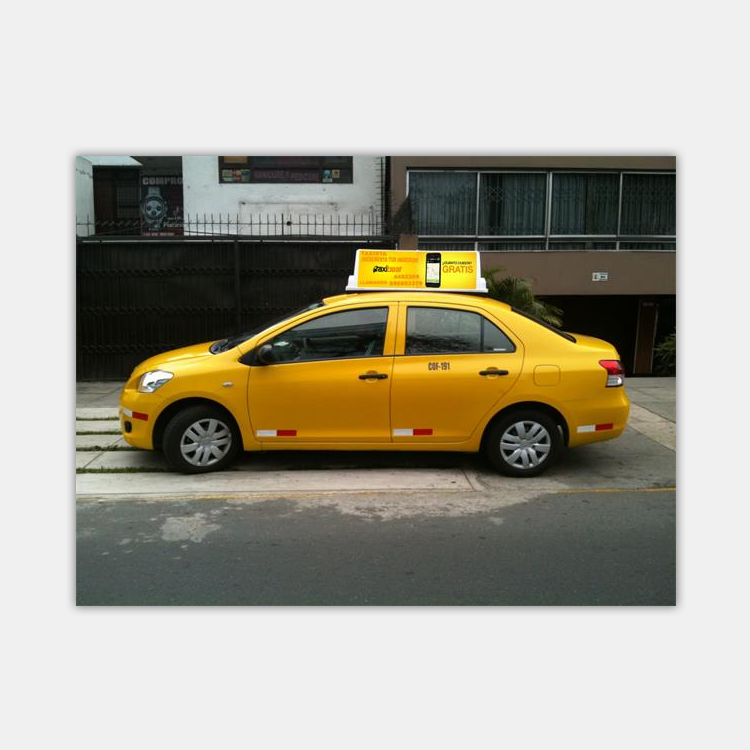 led taxi top <strong>advertising</strong>