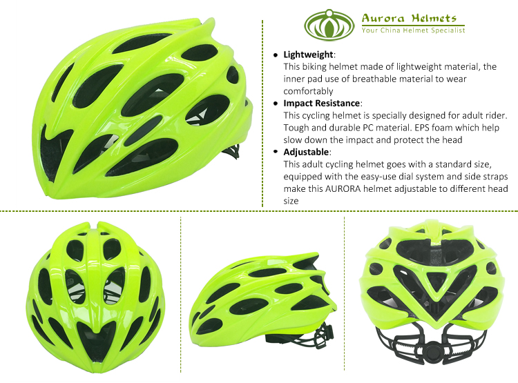 Custom PC + EPS Material Bicycle Helmet With Led Lights 5