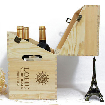 Custom Unique Design Wooden 6 Bottle Wine Box Gift Packaging Box Buy 6 Bottle Wooden Wine Box Wooden Wine Bottle Boxes Wine Packaging Box Product On
