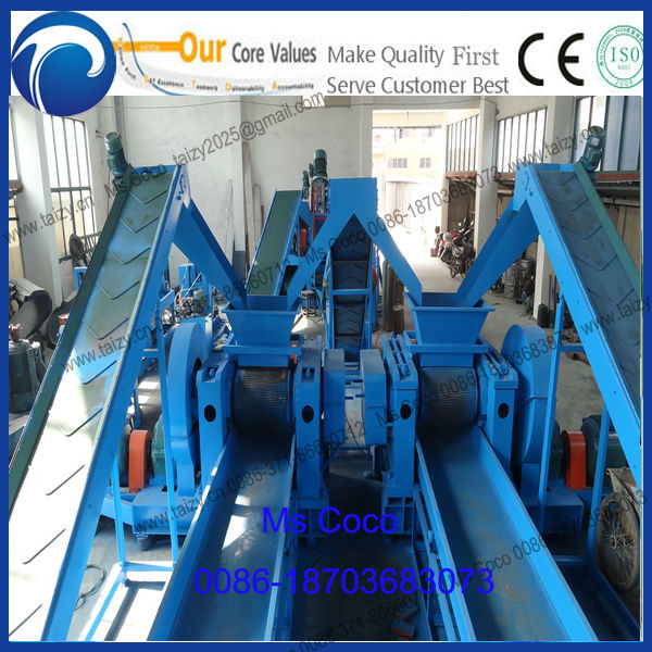 high quality waste tire recycling rubber powder machine with best price rubber coarse crusher tire shredder 0086-18703683073
