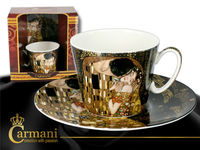 CARMANI Helga Cup & Saucer from Klimt design