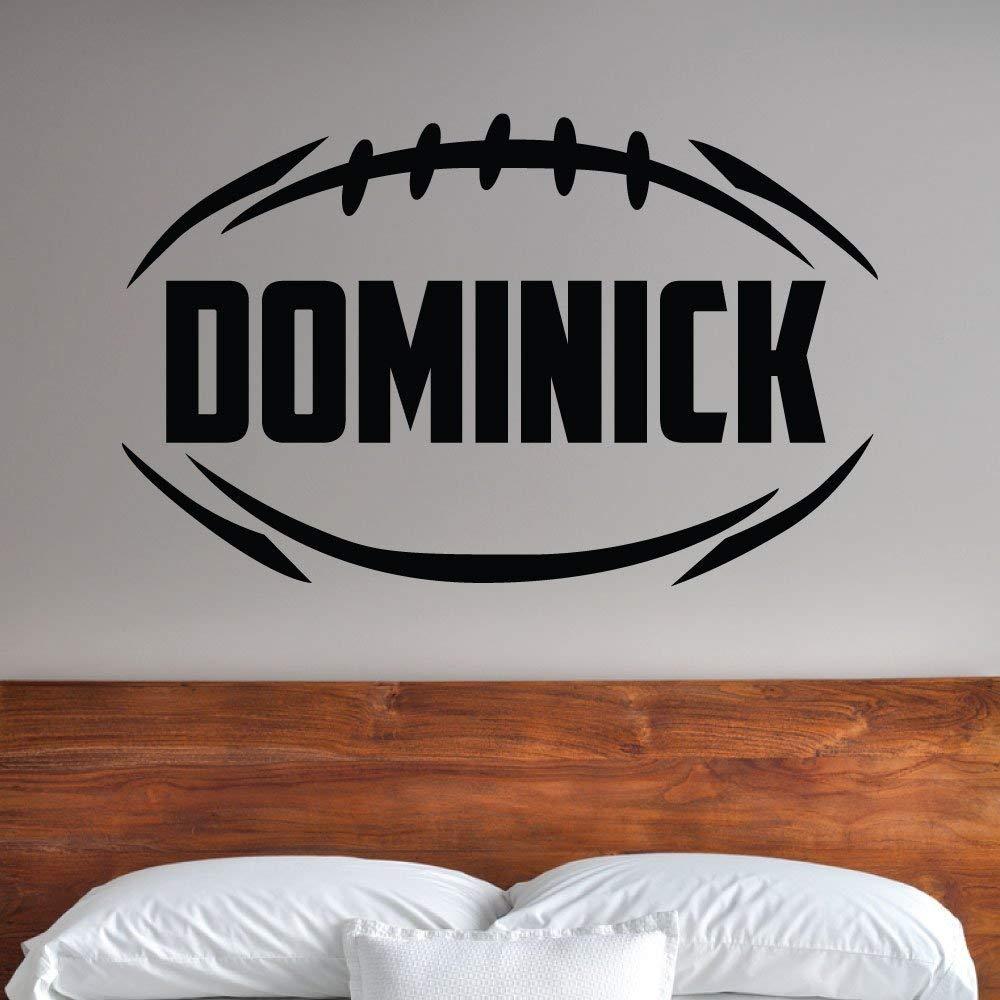 Custom Boys Name Football Wall Decal. -0283- Personalized Boys Football Wall Decal - Football Theme Wall Decal - Football
