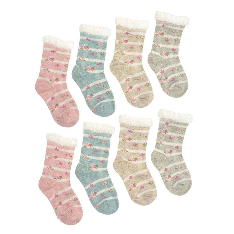 Buy YULI Baby Toddler Infant Boys Girls Cartoon Fun Crew Dress Socks