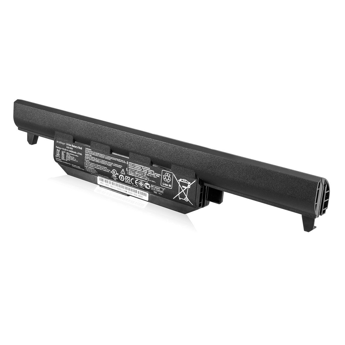 Willingo Replacement Laptop Battery for Asus U57A X55 X55C X55U X75 K55A K55N R500V, Fits P/N A32-K55 A33-K55 A41-K55 [6-Cell 4400mAh/48Wh]