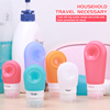 38ml 60ml 90ml TSA Approved Shampoo Use Leak Proof Silicone Travel Bottle Kit