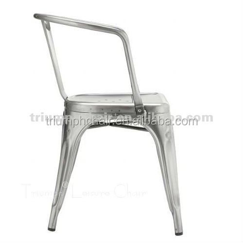 Triumph Vintage metal bistro chairs with Armrest /vintage club chairs/sillas para comedor