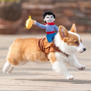 Novelty Funny Cat Dog Costumes Pet Clothes Cowboy Dressing Up Jacket Coats for Small Medium Large Dogs Puppy Clothing