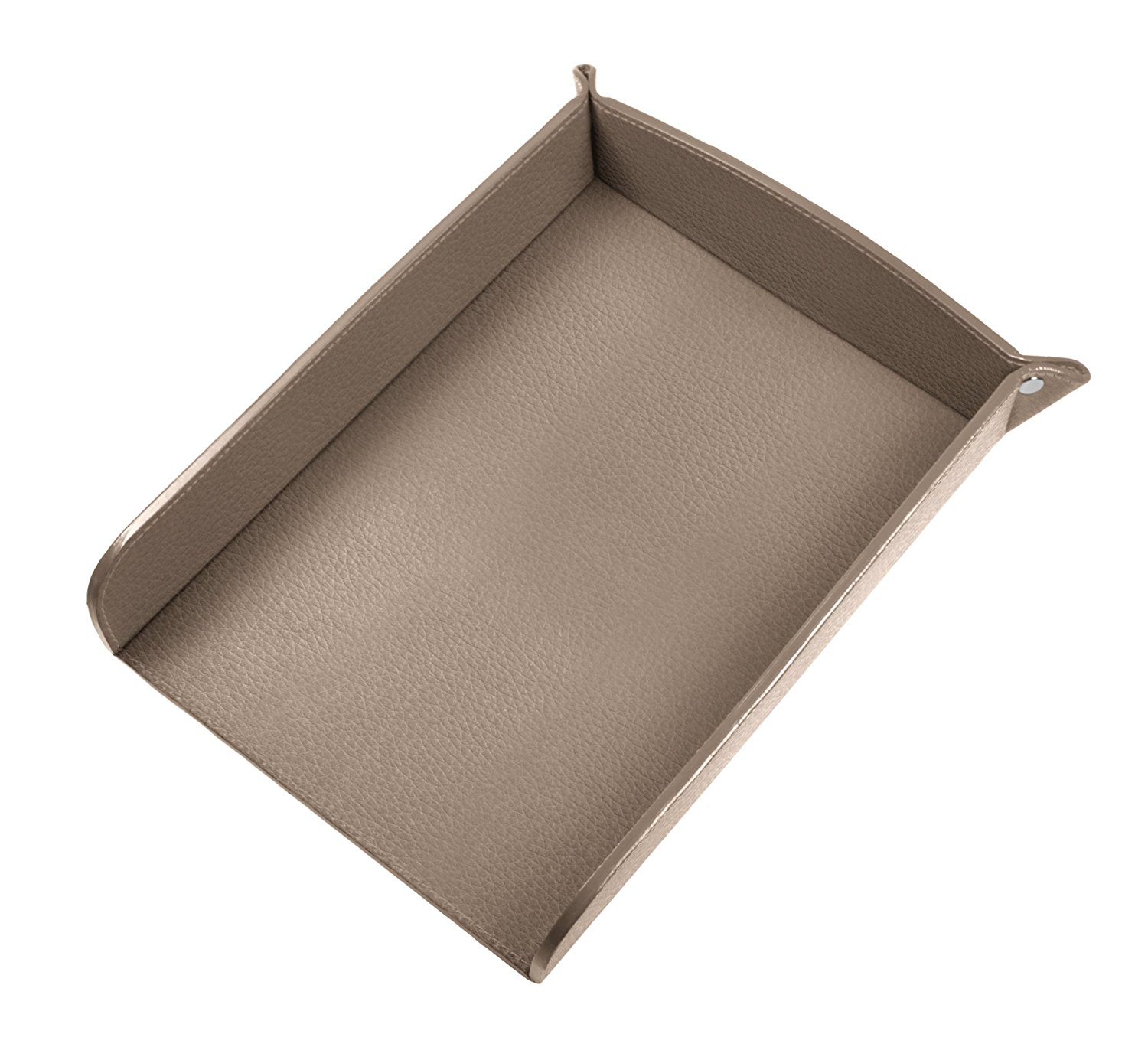 Lucrin USA Inc. A5 Paper Leather Holder, Granulated Cow, Light Taupe