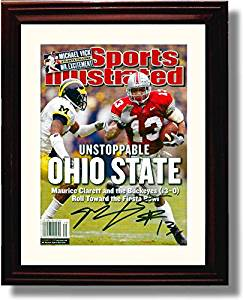 """Framed Ohio State 2002 """"Unstoppable Ohio State"""" Sports Illustrated Maurice Clarette Autograph Replica Print"""
