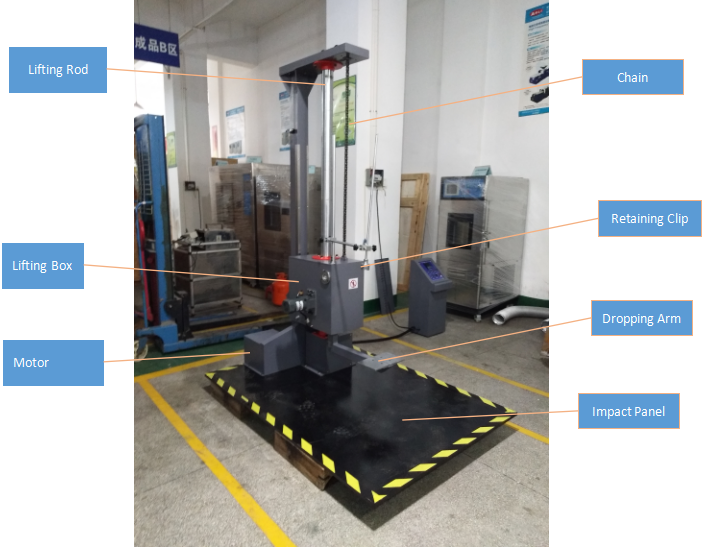 digital display package drop testing machine