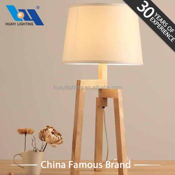Creative Minimalist Design Tripod Solid Wooden Table Lamp Buy