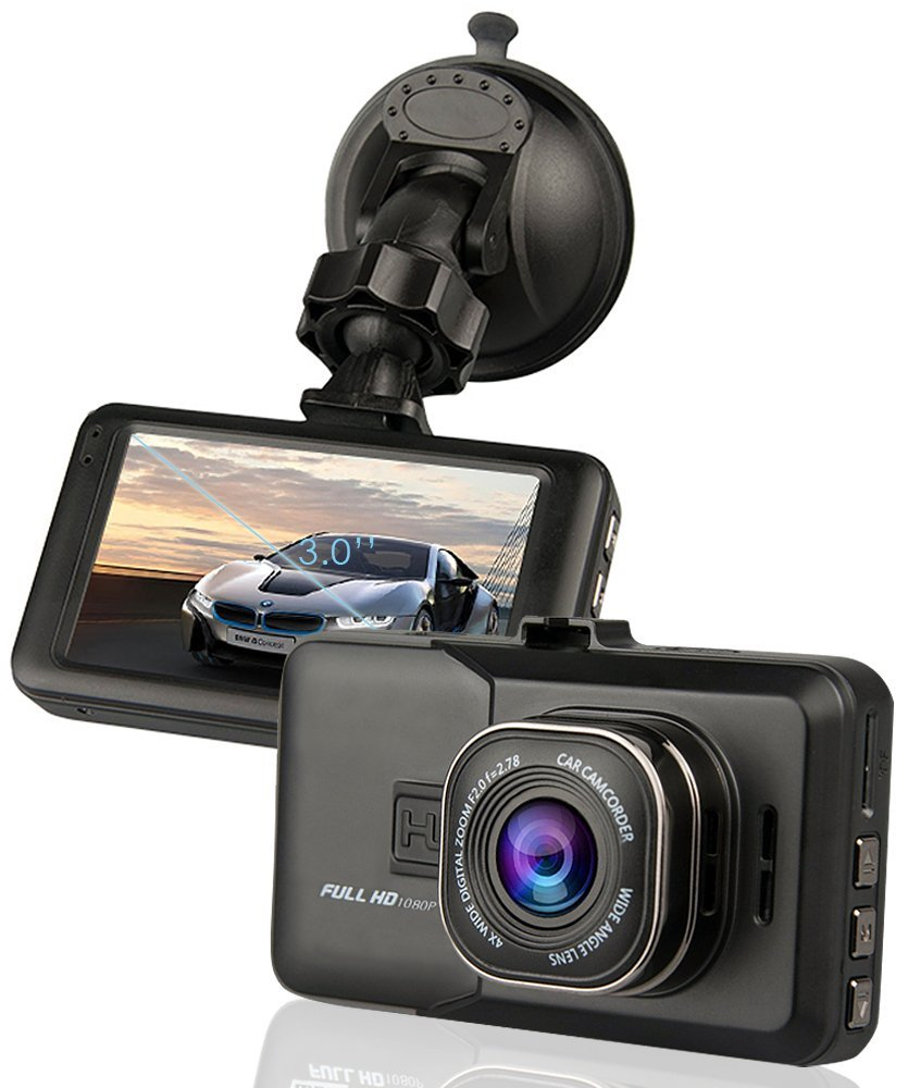 Dash Cam, CiBest Car Cam FHD 1080P Car Camera Car Dash AUTO Camera Car DVR 3.0 inch screen 170° Wide Angle with Motion Detection, Parking Monitoring, G-Sensor, HDMI interface