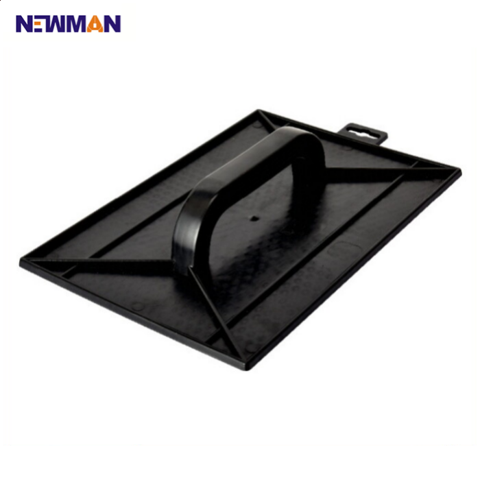 NEWMAN I2027-2 best hand plastering tools rubber plastic handle notched Stainless Steel Plastering Trowel