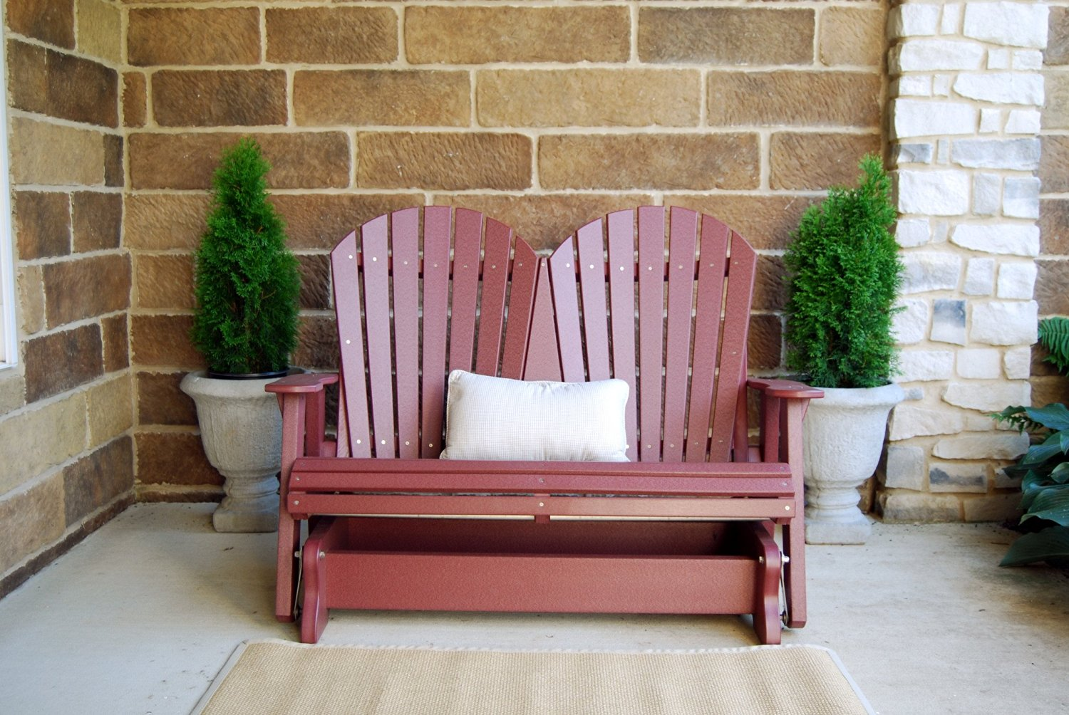 Wildridge Outdoor Recycled Plastic Heritage 4.5'Adirondack Glider - Ships in 10-14 Business Days