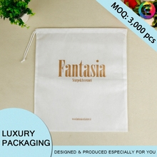 Chinese design custom brand cheap lacing rope non-woven cloth bag