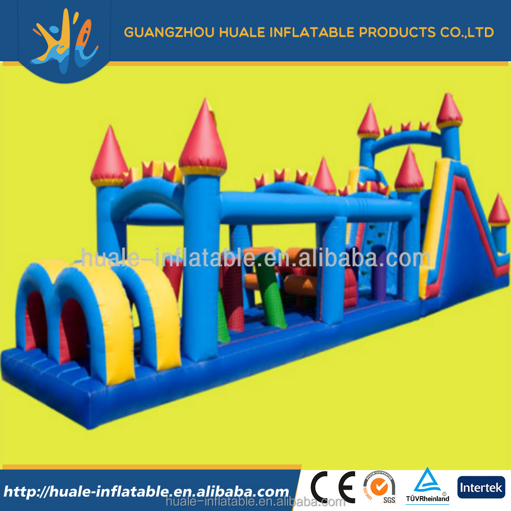 2016Hot selling inflatable obatacles game/inflatable bouncer course for sale